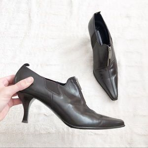 Donald J. Pliner Pointed Toe Zip Leather Booties